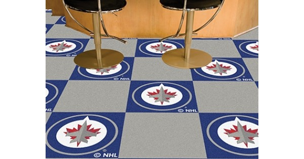 Man Cave Store Winnipeg : Winnipeg jets team carpet tiles