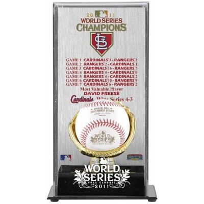 1f257423150 St. Louis Cardinals 2011 World Series Champions Gold Glove Baseball Display  Case with World Series