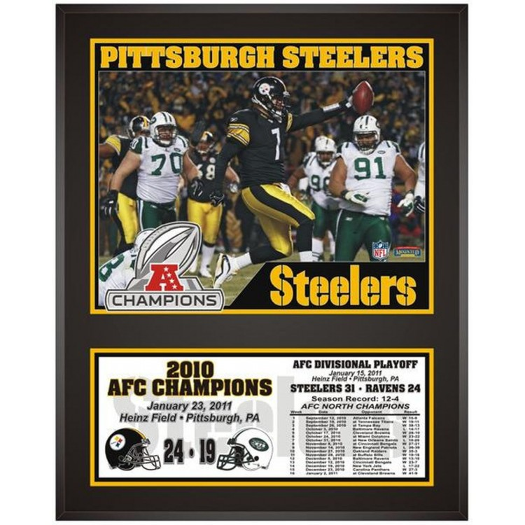 """Pittsburgh Steelers 2010 AFC Conference Champions Sublimated 12"""" x 15"""" Photo"""
