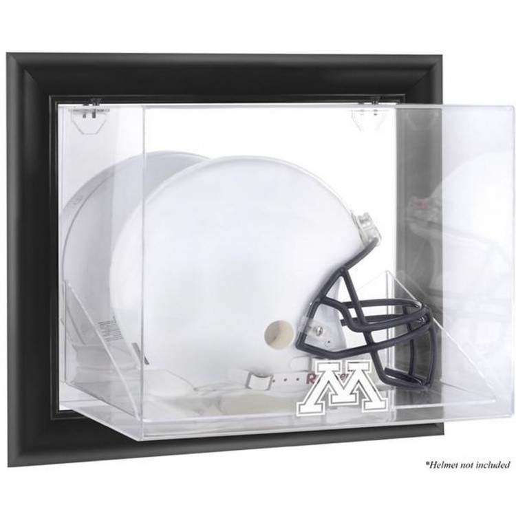 Minnesota Golden Gophers Black Framed Wall-Mountable Helmet Display Case