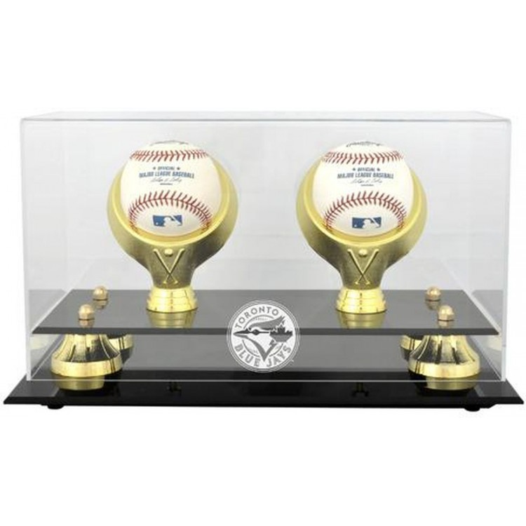 Toronto Blue Jays Golden Classic Two Baseball Logo Display Case