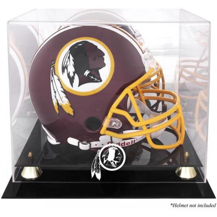 Washington Redskins Golden Classic Helmet Logo Display Case with Mirror Back