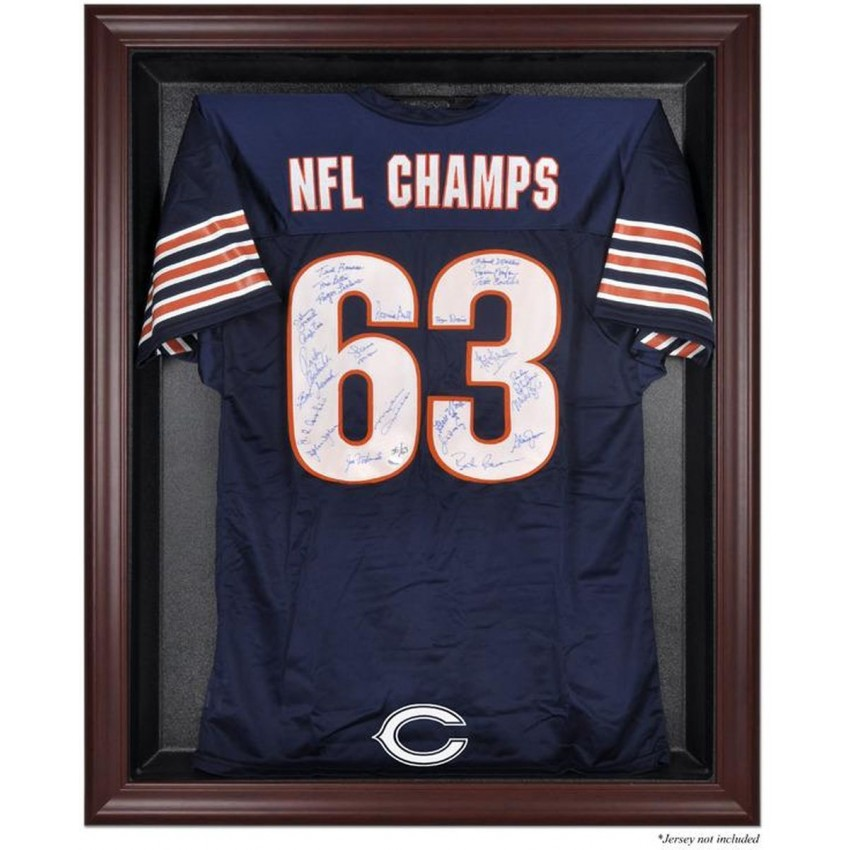 Chicago Bears Frame Jersey Display Case - Mahogany