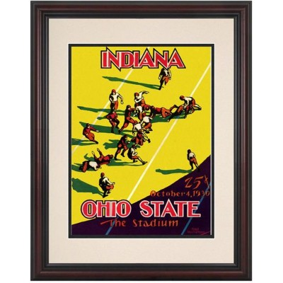 ad8fb442936 1930 Indiana Hoosiers vs Ohio State Buckeyes 8.5   x 11   Framed Historic