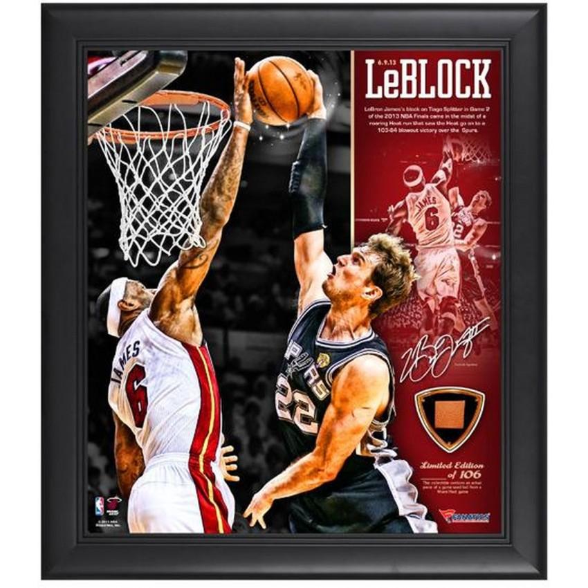 Miami Heat LeBron James 2013 NBA Finals Game 2 The Block Framed 15 ...