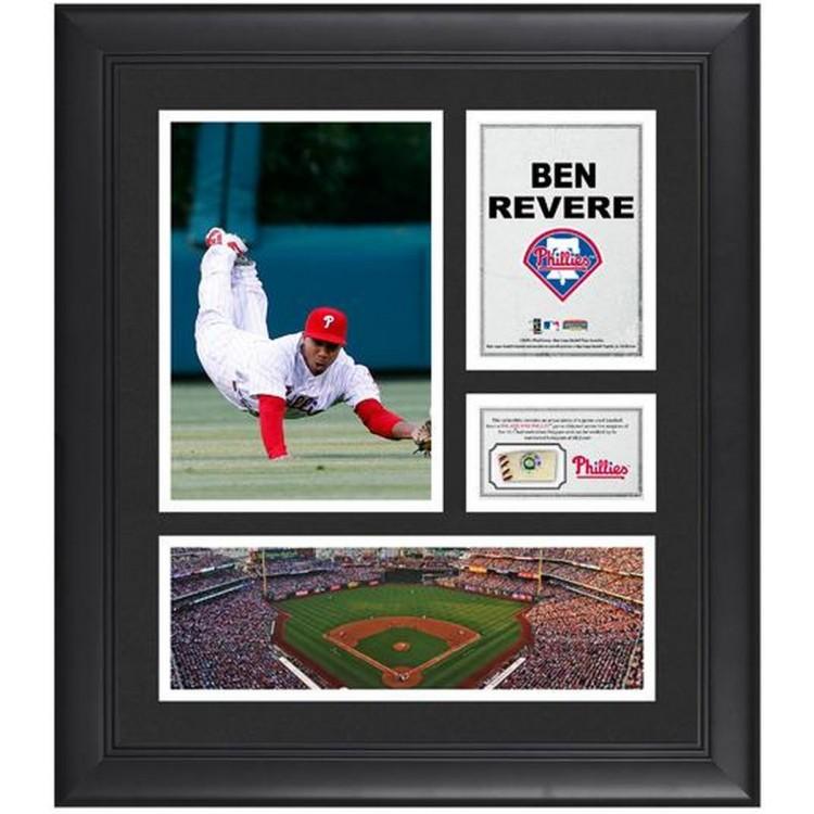 "Ben Revere Philadelphia Phillies Framed 15"" x 17"" Collage with Game-Used Baseball"