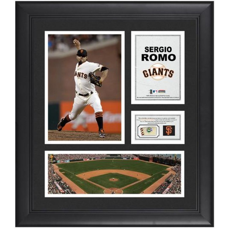 """Sergio Romo San Francisco Giants Framed 15"""" x 17"""" Collage with Game-Used Baseball"""