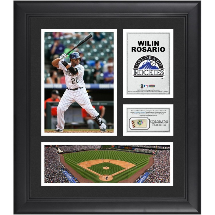 """Wilin Rosario Colorado Rockies Framed 15"""" x 17"""" Collage with Game-Used Baseball"""