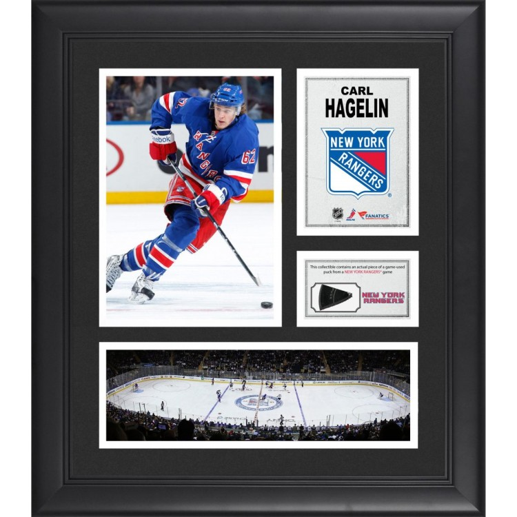 "Carl Hagelin New York Rangers Framed 15"" x 17"" Collage with Game-Used Puck-Limited Edition of 500"