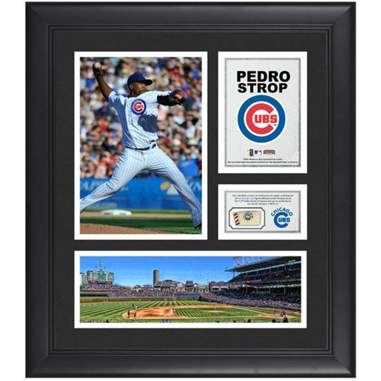 "Pedro Strop Chicago Cubs Framed 15"" x 17"" Collage with Game-Used Baseball"