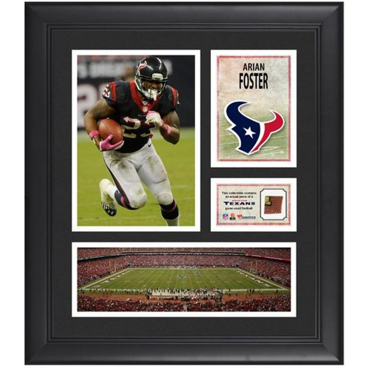 """Arian Foster Houston Texans Framed 15"""" x 17"""" Collage with Game-Used Football"""