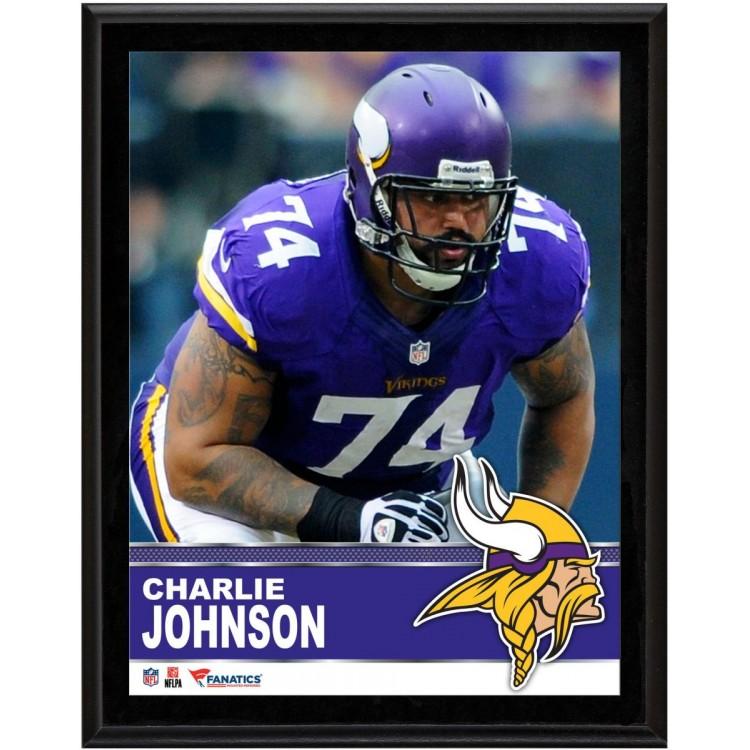 "Charlie Johnson Minnesota Vikings Sublimated 10.5"" x 13"" Plaque"