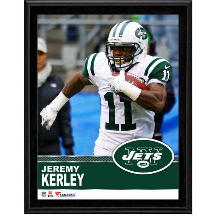 "Jeremy Kerley New York Jets Sublimated 10.5"" x 13"" Plaque"