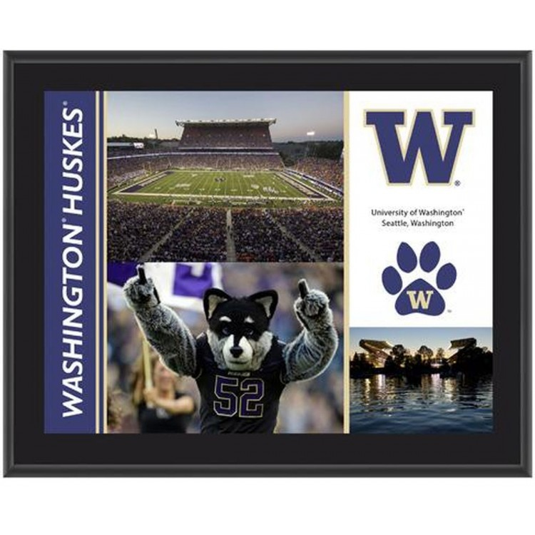 "Washington Huskies Sublimated 10.5"" x 13"" Plaque"