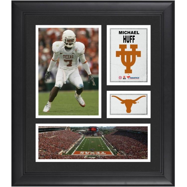 "Michael Huff Texas Longhorns Framed 15"" x 17"" Collage"