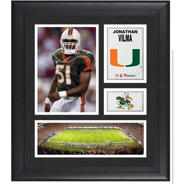 "Jonathan Vilma Miami Hurricanes Framed 15"" x 17"" Collage"