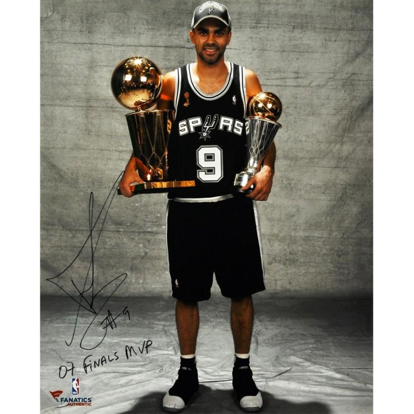 Tony Parker San Antonio Spurs 2007 NBA Finals Autographed 16