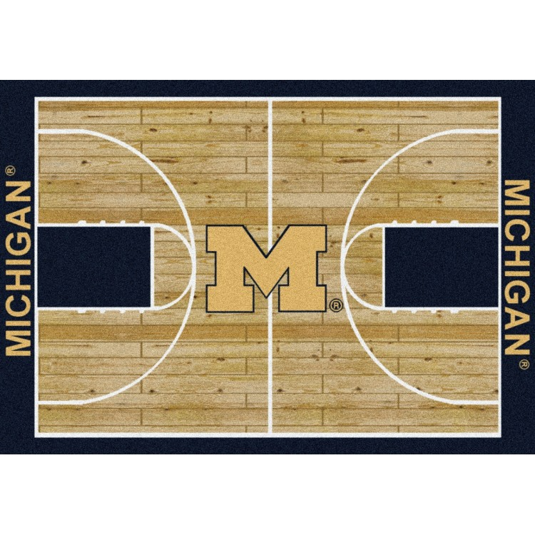 "Michigan Wolverines 5'4""x7'8"" College Home Court Area Rug"