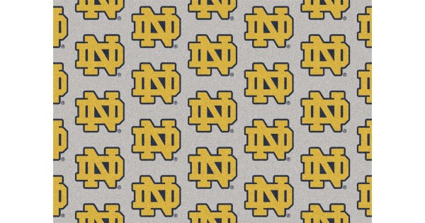 Notre Dame Irish 10 9 Quot X13 2 Quot College Repeating Area Rug
