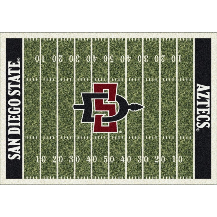 """San Diego State Aztecs 3'10""""x5'4"""" College Home Field Area Rug"""