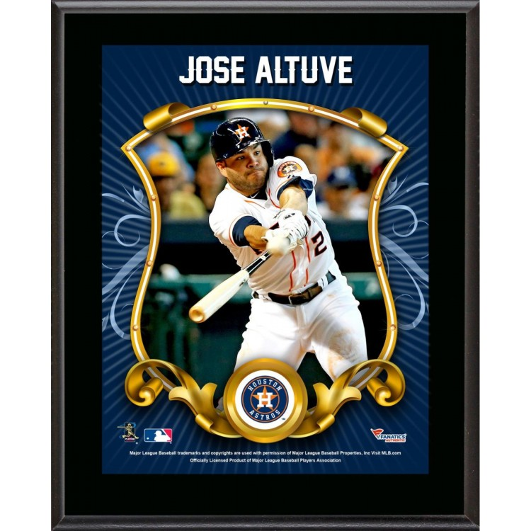 "Jose Altuve Houston Astros Sublimated 10.5"" x 13"" Stylized Plaque"