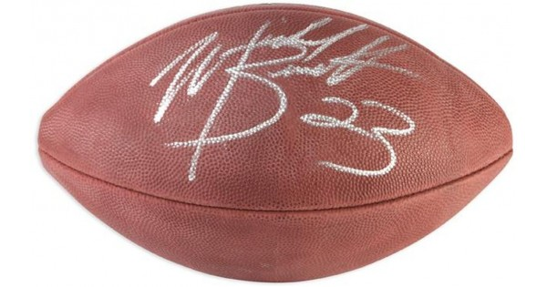 Michael Bennett Autographed Wilson Pro Football