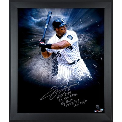 frank thomas chicago white sox framed autographed 20 x 24 in focus photograph with