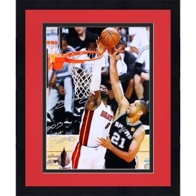 framed lebron james miami heat 2013 nba champions autographed 16 x 20 the block
