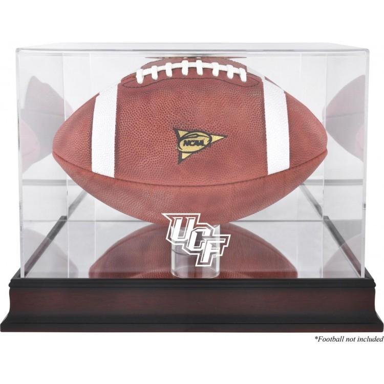 University of Central Florida Knights Mahogany Base Logo Football Case with Mirror Back