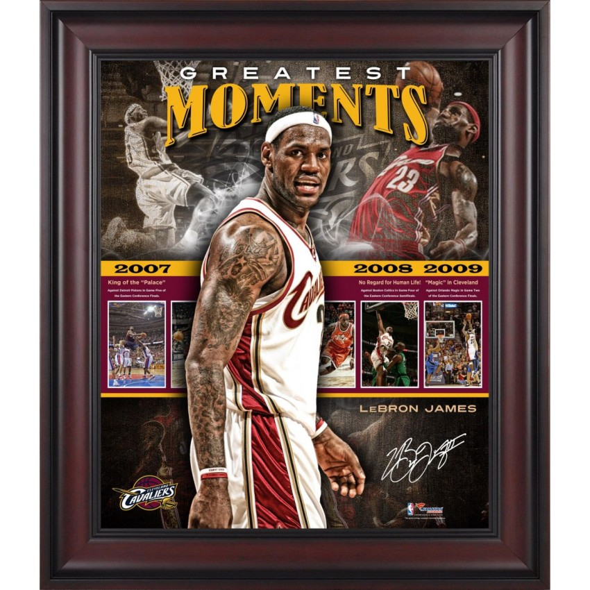 LeBron James Cleveland Cavaliers Framed Greatest Moments 20\