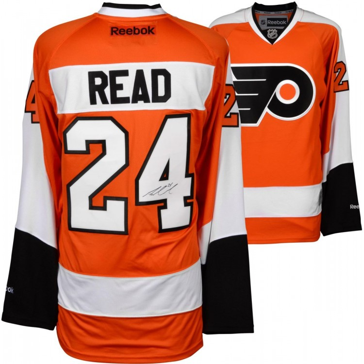 Matt Read Philadelphia Flyers Autographed Orange Reebok Premier Jersey