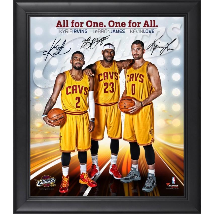 Cleveland Cavaliers Framed Big 3 (LeBron James, Kyrie Irving, Kevin ...