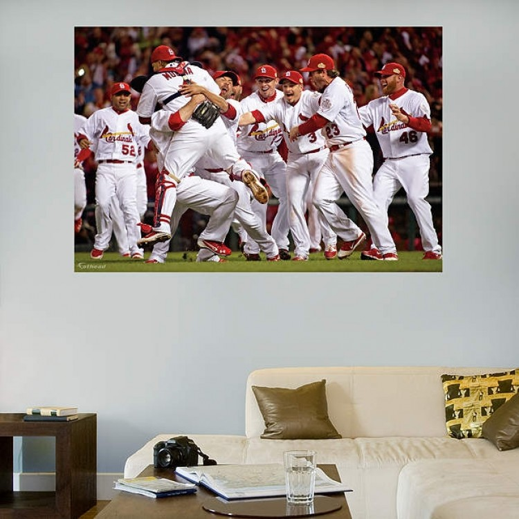 2011 St. Louis Cardinals World Series Champs Mural REAL.BIG. Fathead