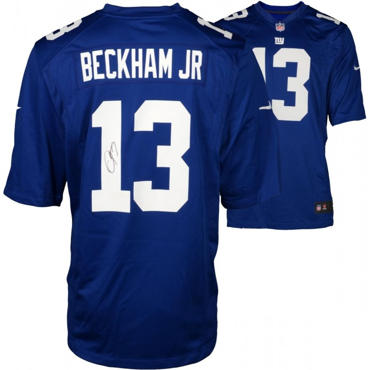 Odell Beckham Jr. New York Giants Autographed Blue Nike Game Jersey