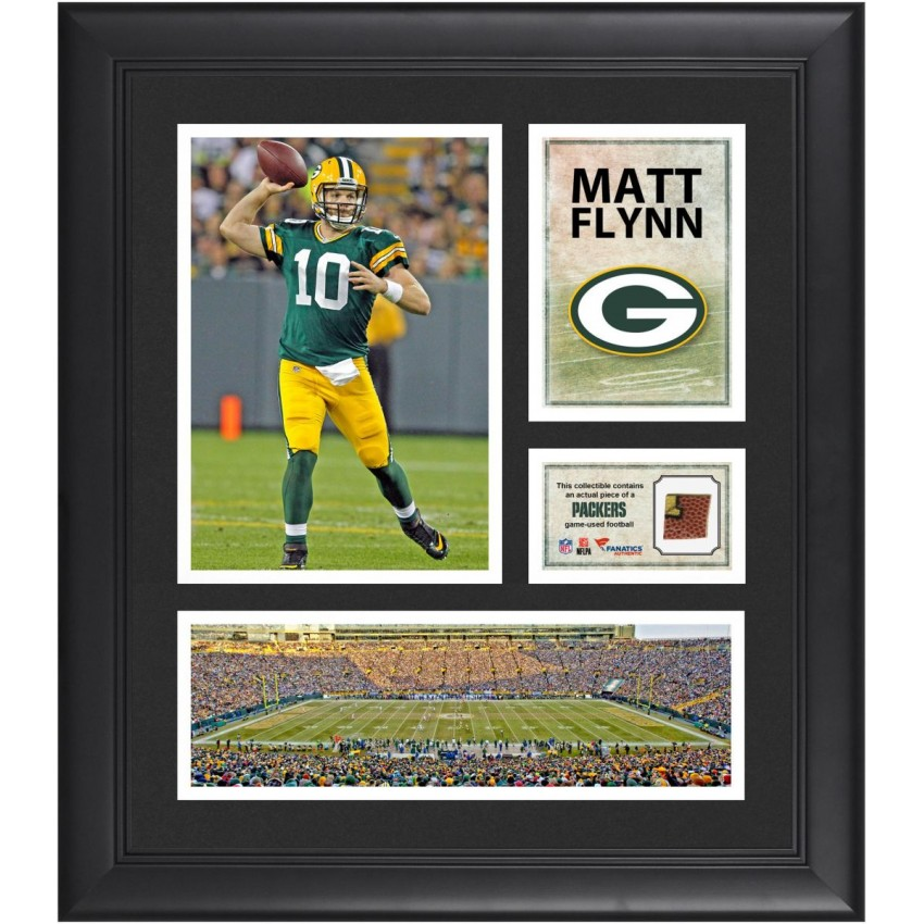 Matt Flynn Green Bay Packers Framed 15\'\' x 17\'\' Collage with Game ...