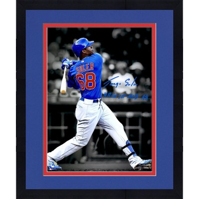 framed jorge soler chicago cubs autographed 11 x 14 spotlight photograph with