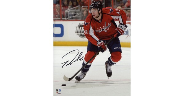Tom Wilson Washington Capitals Autographed Skating With Puck 8