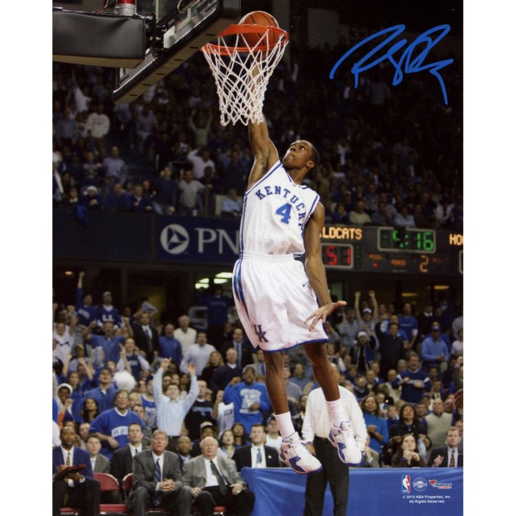 "Rajon Rondo Kentucky Wildcats Autographed Dunking 08"" x 10"" Photograph"