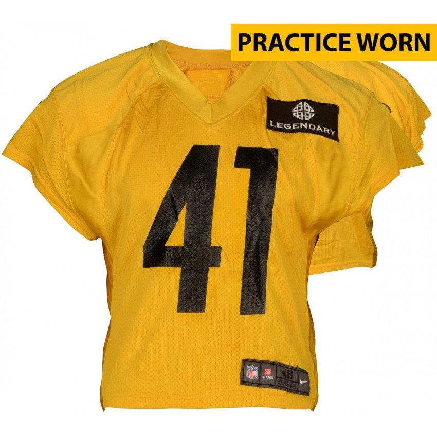 f59cb8bf810 Antwon Blake  41 Pittsburgh Steelers Practice Worn Yellow Jersey from 2014  Season