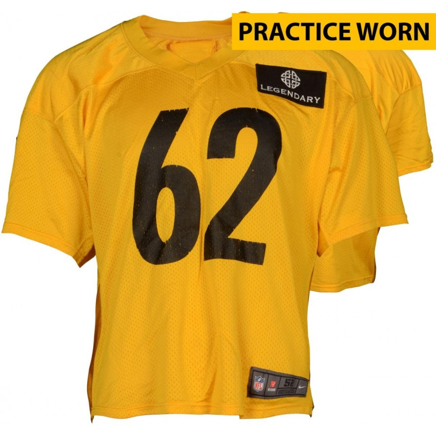 Daniel McCullers #62 Pittsburgh Steelers Practice Worn Yellow Jersey