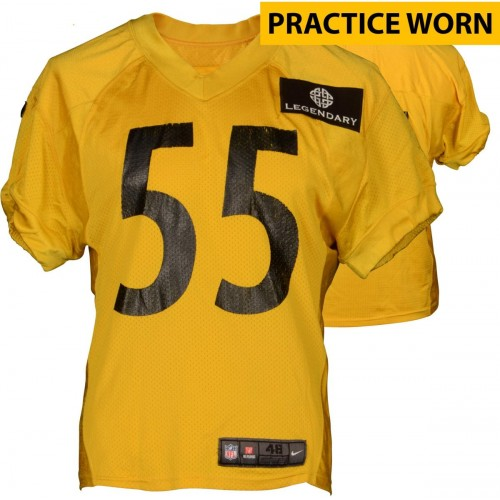 4cdceaf3424 Arthur Moats  55 Pittsburgh Steelers Practice Worn Yellow Jersey from 2014  Season