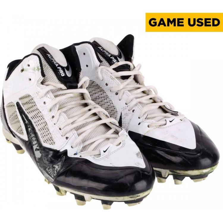 Heath Miller Pittsburgh Steelers Game-Used 2014 Season White and Black Nike Pair of Cleats