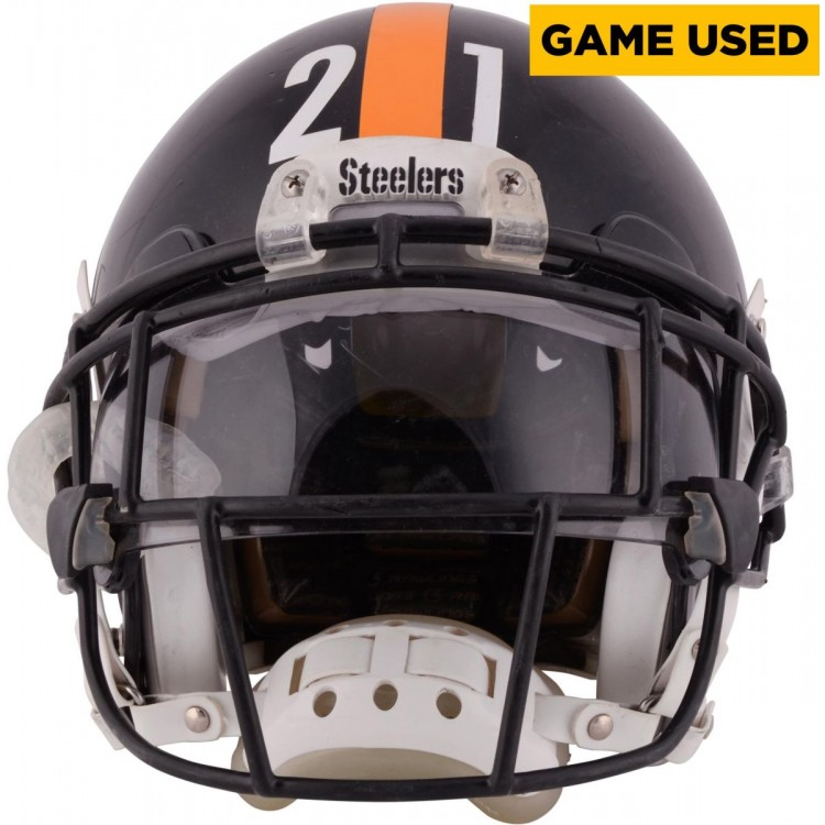 Robert Golden Pittsburgh Steelers Game-Used Black 2014 Season Helmet