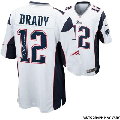 bb92cdde8 Tom Brady New England Patriots Autographed White Nike Elite Jersey with SB  39 Champs Inscription