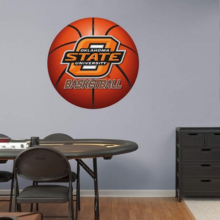Oklahoma State Cowboys Basketball Logo REAL.BIG. Fathead