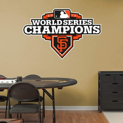 9eed85e5d San Francisco Giants 2012 World Series Champions Logo REAL.BIG. Fathead
