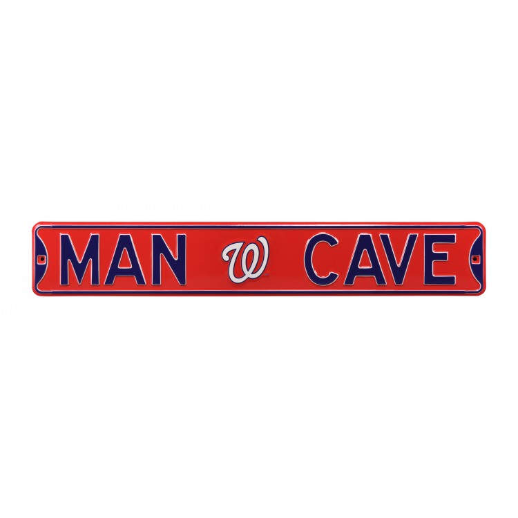 Washington Nationals Steel Man Cave Street Sign