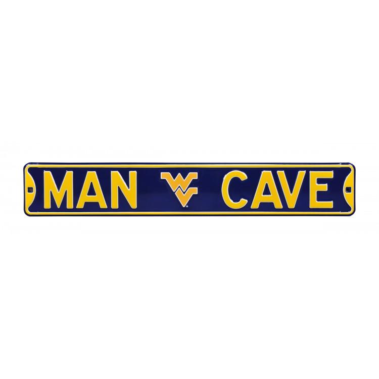 West Virginia Mountaineers Steel Man Cave Street Sign
