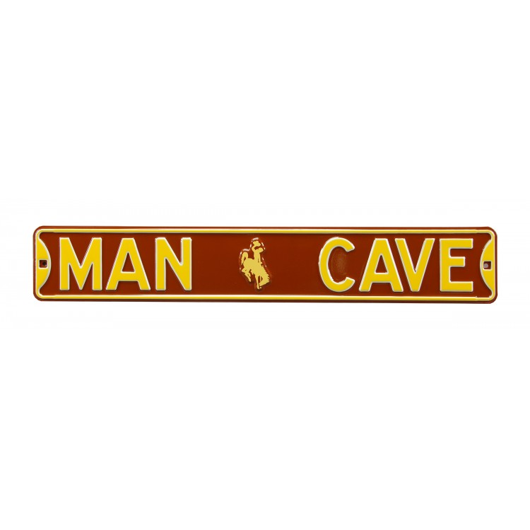 Wyoming Cowboys Steel Man Cave Street Sign