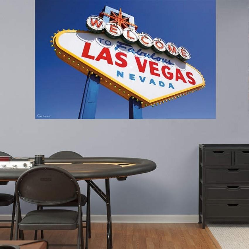 Man Cave Store Las Vegas : Las vegas sign mural real big fathead